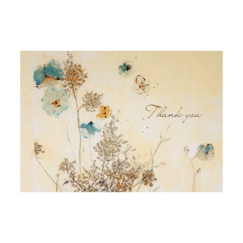 Peter Pauper Press Boxed Thank You Note Cards - Watercolour Flowers