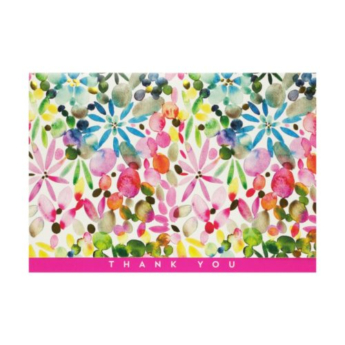 Peter Pauper Press Boxed Thank You Note Cards - Watercolour Garden