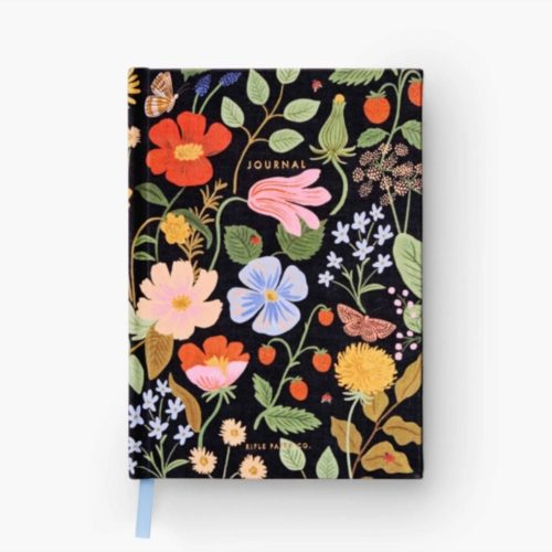 Rifle Paper Co - Fabric Journal - Ruled - Large - Strawberry Fields