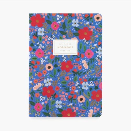 Rifle Paper Co. Stitched Notebooks - Pack of 3 - Wild Rose