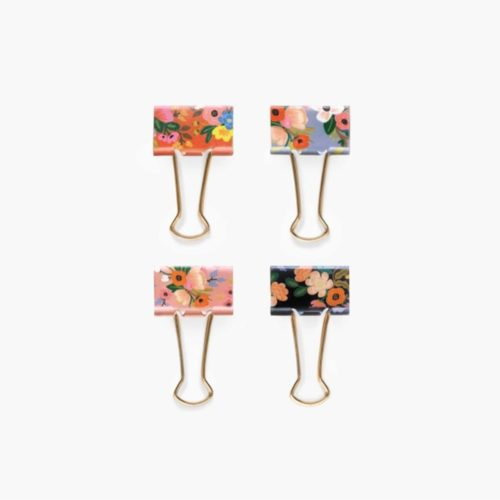 Rifle Paper Co. Binder Clips - Pack of 8 - Lively Floral