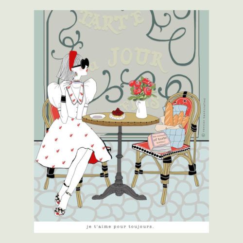 Verrier Handcrafted Card - Je T'aime Pour Toujours