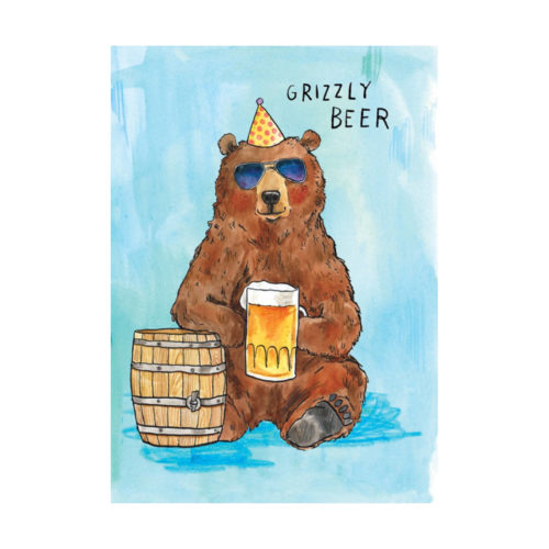 Grizzly Beer Card - Grizzly Beer