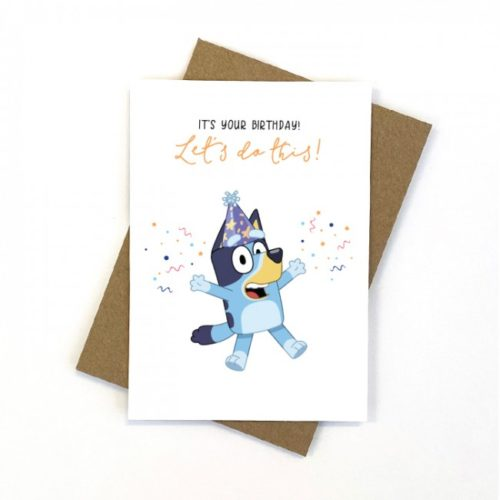 Candle Bark Creations Card - Blue Let's Do This
