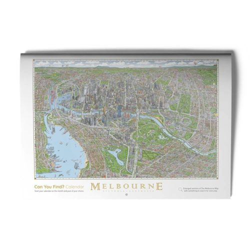 """The Melbourne Map """"Can You Find?"""" Calendar"""