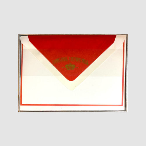 Original Crown Mill Boxed Card and Envelope Set - White/Red