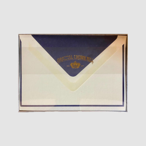 Original Crown Mill Boxed Card and Envelope Set - Cream/Navy