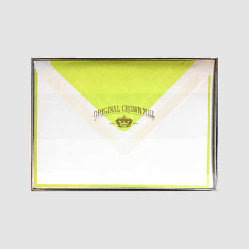 Original Crown Mill Boxed Card and Envelope Set - White/Bamboo