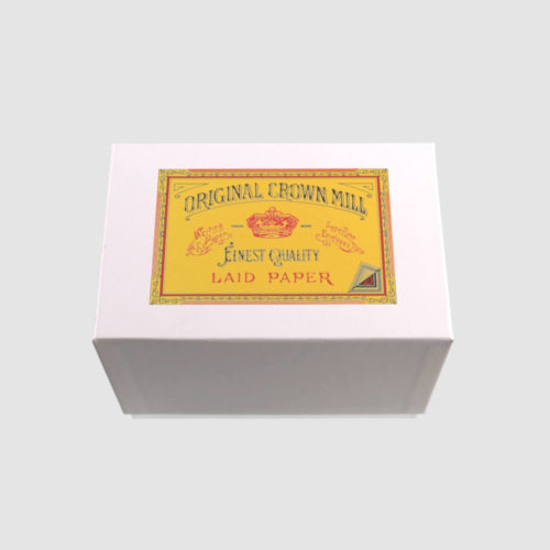 Original Crown Mill Boxed Card and Envelope Set - 50 Pack - White