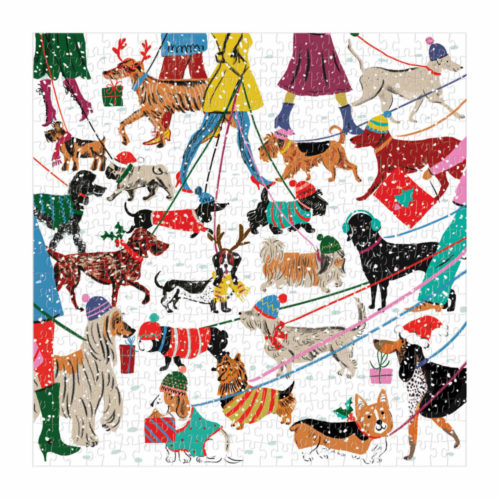 500 Piece Puzzle - Winter Dogs Louise Cunningham