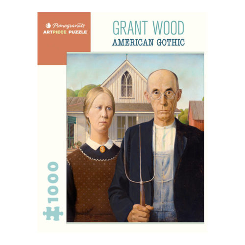 1000 Piece Puzzle - Grant Wood: American Gothic