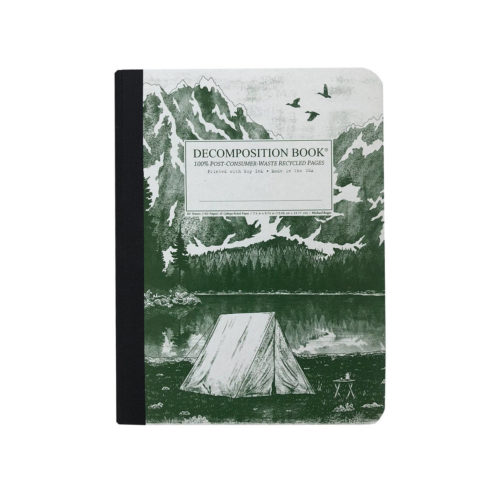 Decomposition Book - Large Notebook - Ruled - Mountain Lake
