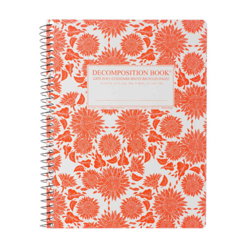 Decomposition Book - Extra Large Notebook - Ruled - Sunflowers