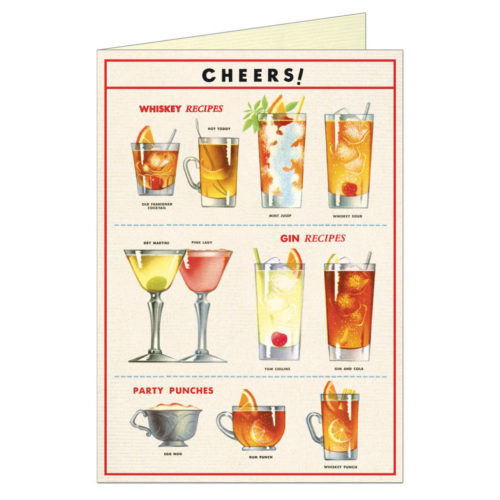 Cavallini & Co. Card - Cheers! - Drink Recipes