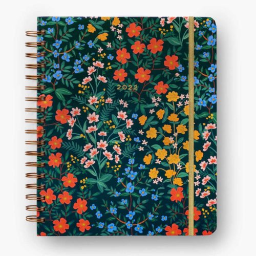 Rifle Paper Co - 2022 17 Month Hard Cover Spiral Bound Planner - Wildwood