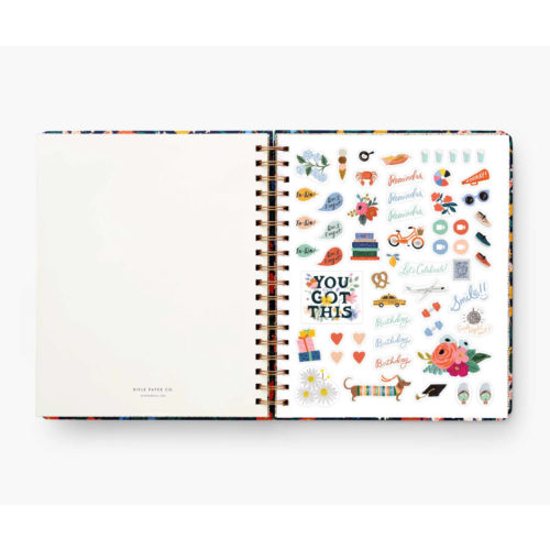 Rifle Paper Co - 2022 17 Month Hard Cover Spiral Bound Planner - Marguerite