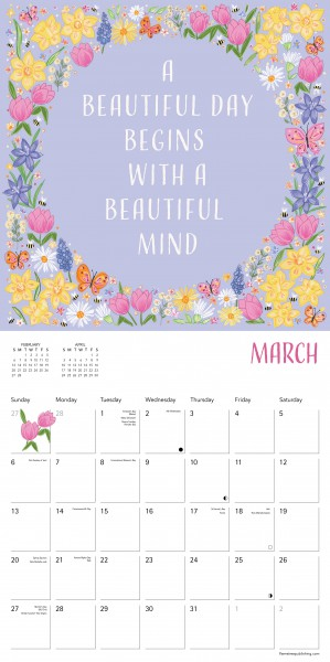 Flame Tree 2022 Large Wall Calendar - A Year of Positivity