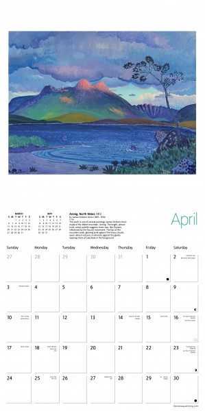 Flame Tree 2022 Large Wall Calendar - Tate British Landscapes