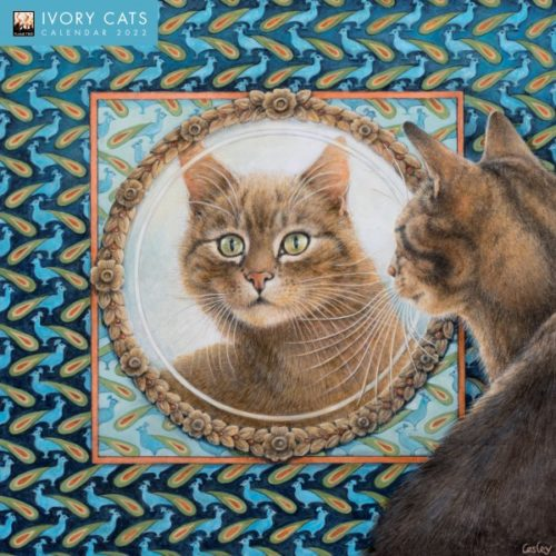 Flame Tree 2022 Large Wall Calendar - Ivory Cats by Lesley Anne Ivory