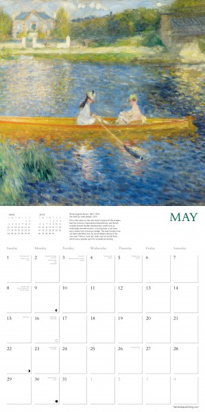 Flame Tree 2022 Large Wall Calendar - National Gallery Impressionists