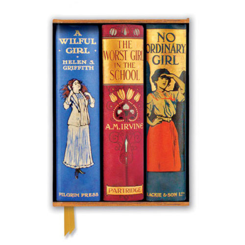 Flame Tree Notebook - Bodleian Libraries Book Spines Great Girls