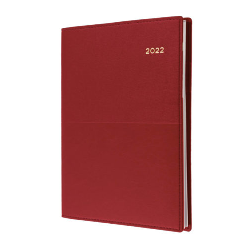Vanessa A4 Daily 2022 Diary - Red