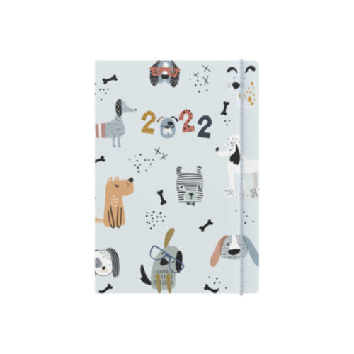 Maru A6 Weekly 2022 Diary - Dogs