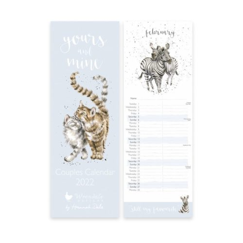 Wrendale Designs 2022 Slim Couples Calendar - Yours and Mine