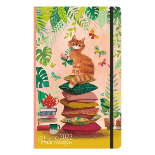 Mila Marquis 2022 Vertical Weekly Diary - Cats