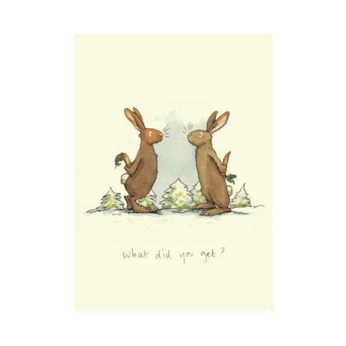 Two Bad Mice Christmas Card - What Did You Get?