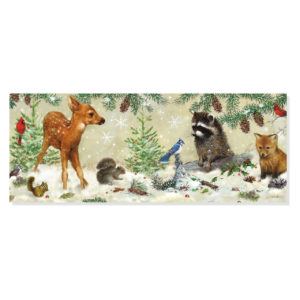 Peter Pauper Press Panoramic Boxed Christmas Cards – Winter Forest Friends