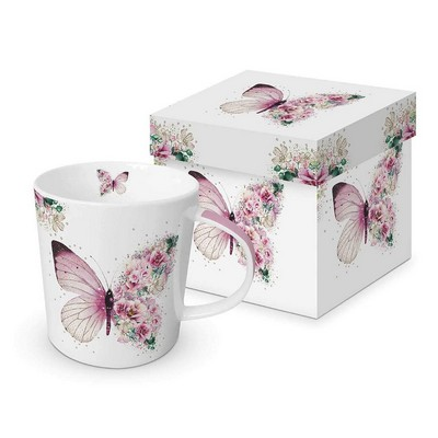 Paper Products Design Mug - Butterfly Flowers