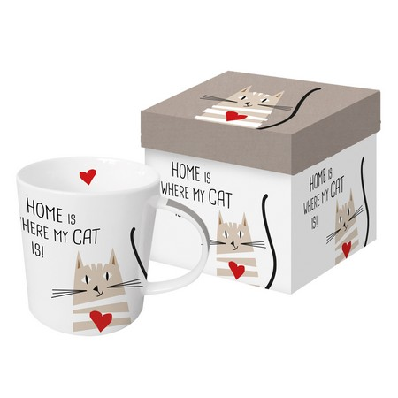 Paper Products Design Mug - Home Is Where The Cat Is