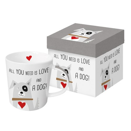 Paper Products Design Mug - All You Need Is Love And A Dog